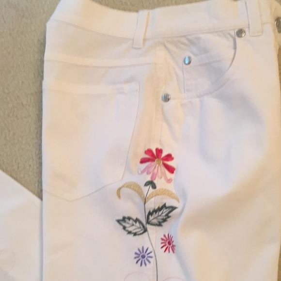 Piazza Sempione Denim - Piazza Sempione Embroidered White Cotton Jeans